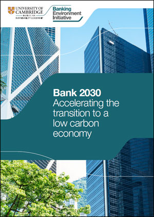 Bank 2030 Accelerating the transition to a low carbon economy