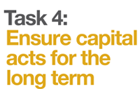 Ensure capital acts for the long term