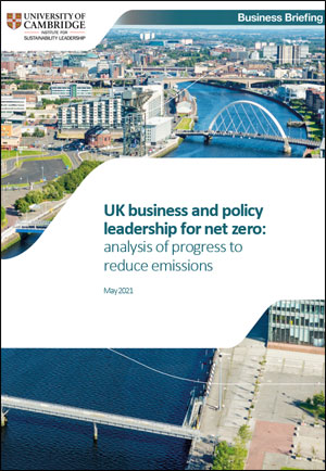 UK business and policy leadership for net zero