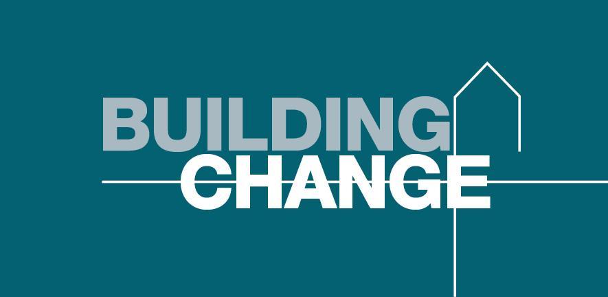 Building change logo