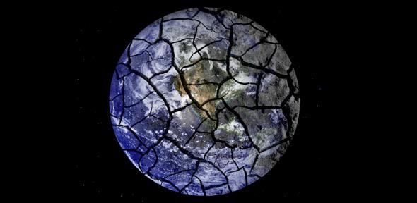 Cracked globe